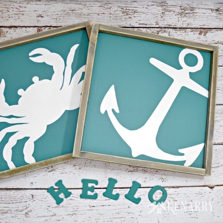 This crab and anchor wall art from The Summery Umbrella let you decorate your home with nautical or beach decor for a coastal look you'll love.