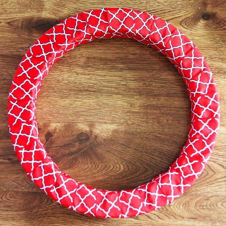 4th of July Wreath Wrapped