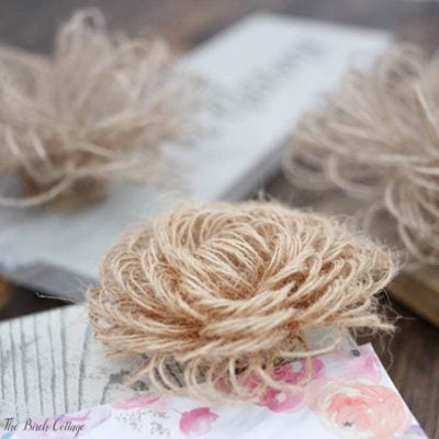 Learn to make these Loopy Burlap Flowers from burlap wrap. Get the full easy to follow tutorial from The Birch Cottage.