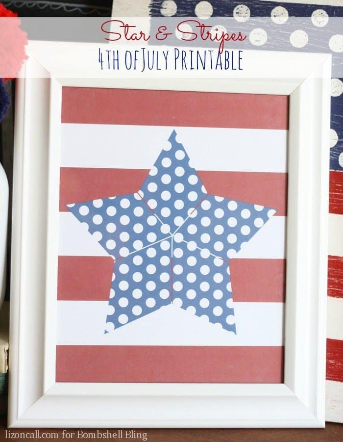 Patriotic decor ideas 12 easy crafts and free printables Stars and stripes home decor