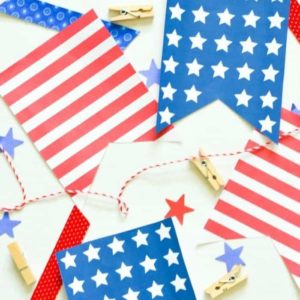 Stars and Stripes Printable Banner – Typically Simple - Patriotic Decor Ideas for the 4th of July featured on Kenarry.com