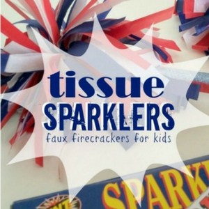 Tissue Sparklers; Faux Fireworks for Kids, TrishSutton.com
