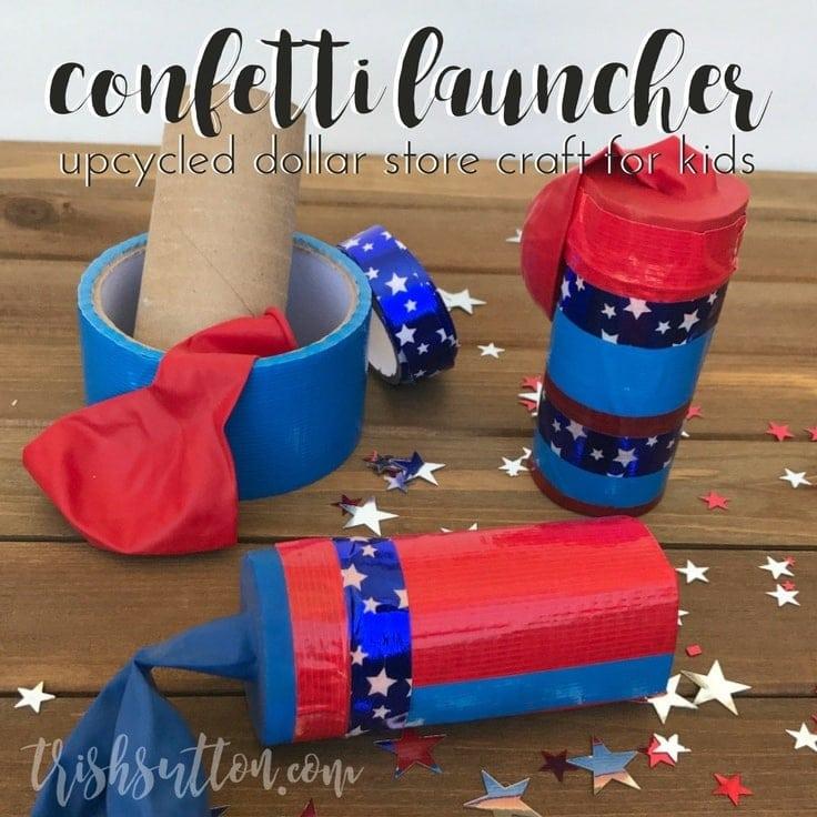Dollar Store Kids Confetti Launcher, TrishSutton.com
