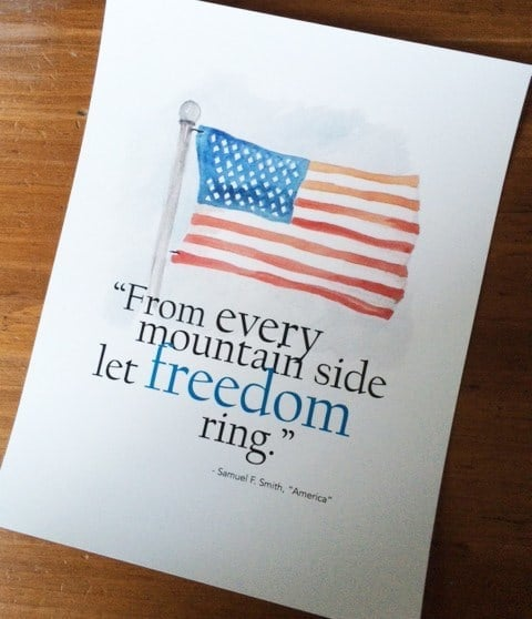 Free Printable American Flag Art - Greco Design Company - Patriotic Decor Ideas for the 4th of July featured on Kenarry.com