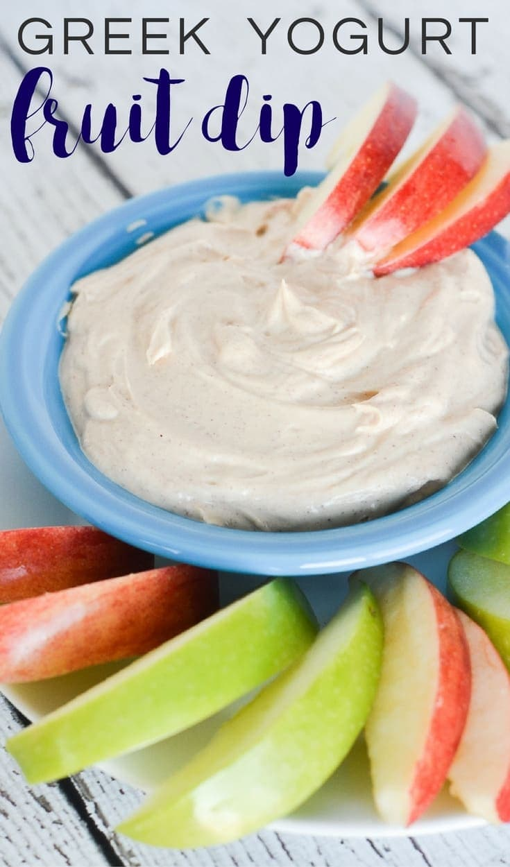 With just a few basic ingredients, this greek yogurt fruit dip is ready in a few minutes and is a healthy option to enjoy with fresh fruit!