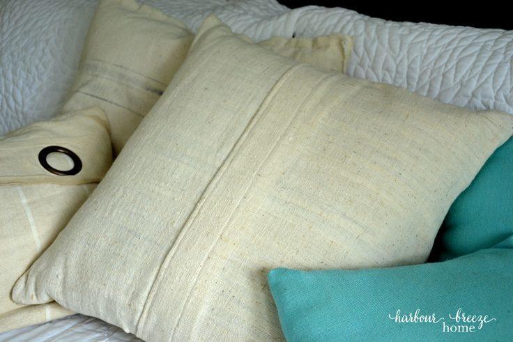 Printed Burlap Pillow