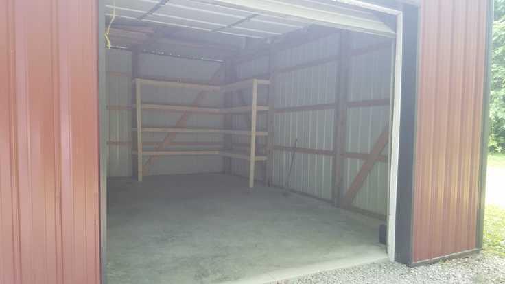DIY Corner Shelves for a Pole Barn