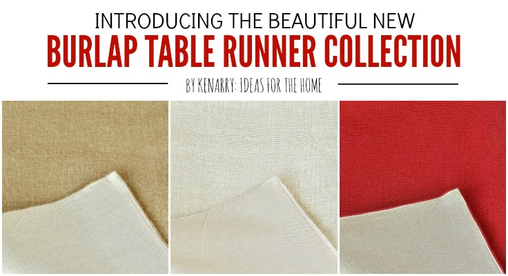 Burlap table runners by Kenarry are a great way to add farmhouse style to buffets, dining tables, entertainment centers and television consoles, coffee tables, holiday decorating and more. The collection includes 14