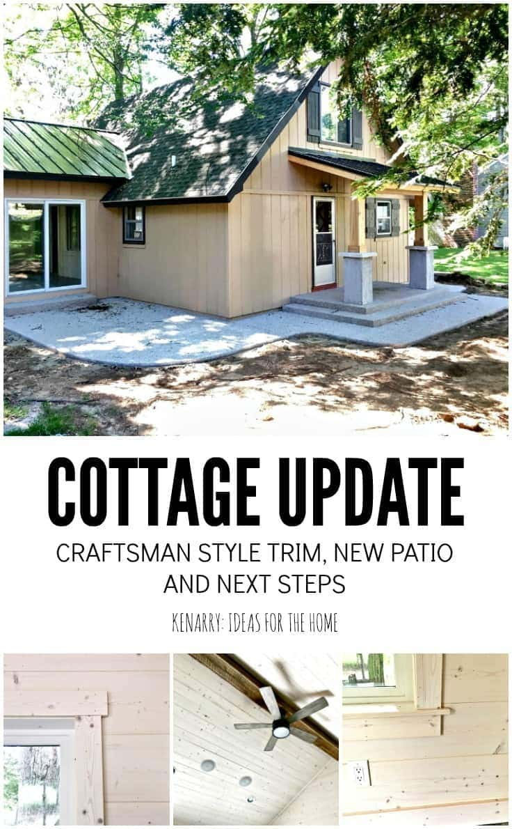 Cottage Craftsman Style Trim and Outdoor Landscaping