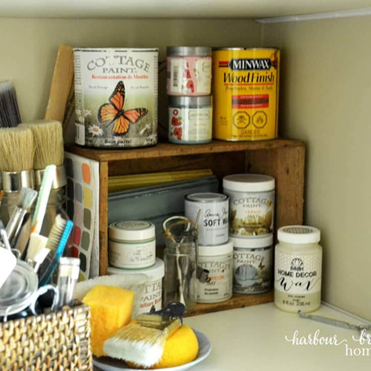 How to Organize Craft Supplies in a Closet Space