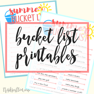 Summer Bucket List Printables, TrishSutton.com