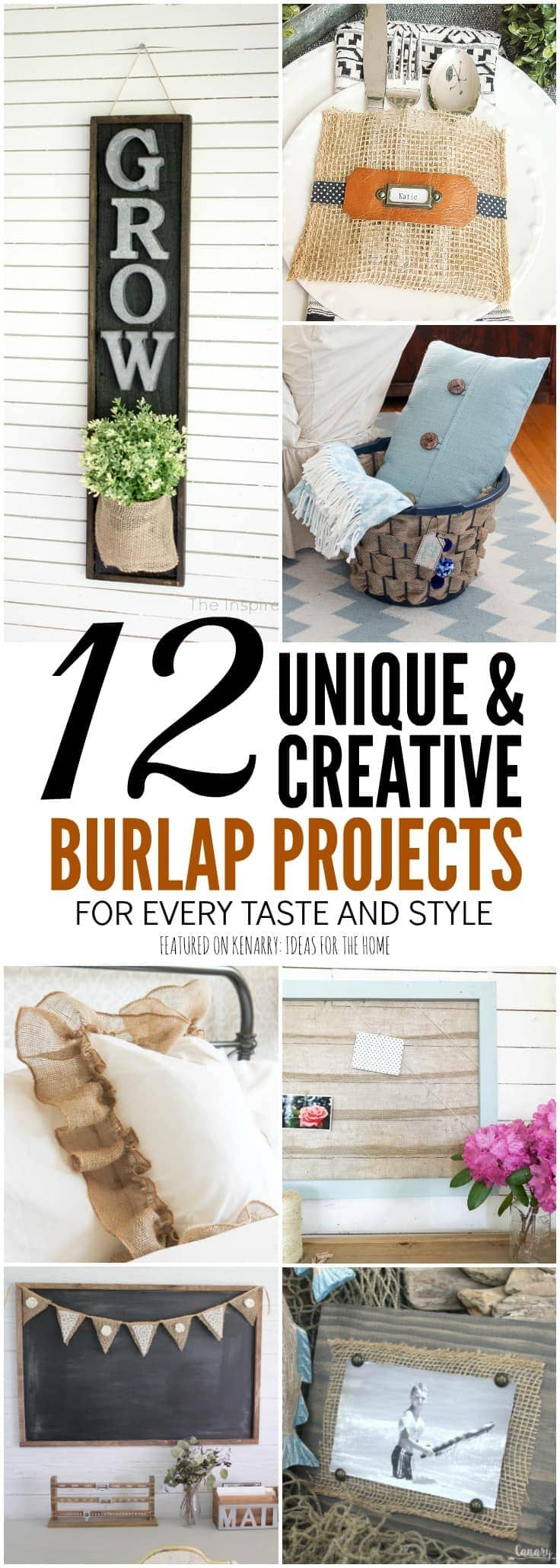 Burlap craft projects are easy to make and can be customized to fit any style or home decor. Rustic farmhouse style | Modern boho style | Classic country style | Burlap ribbon | Burlap ideas | Burlap crafts | Burlap decor