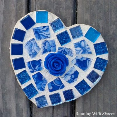 Make a Mosaic Heart with broken china tiles. In this video tutorial, we'll show you how to glue the tiles and how to mix the grout. Great for beginners!