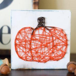 String Art Pumpkin: A Fun Fall Project