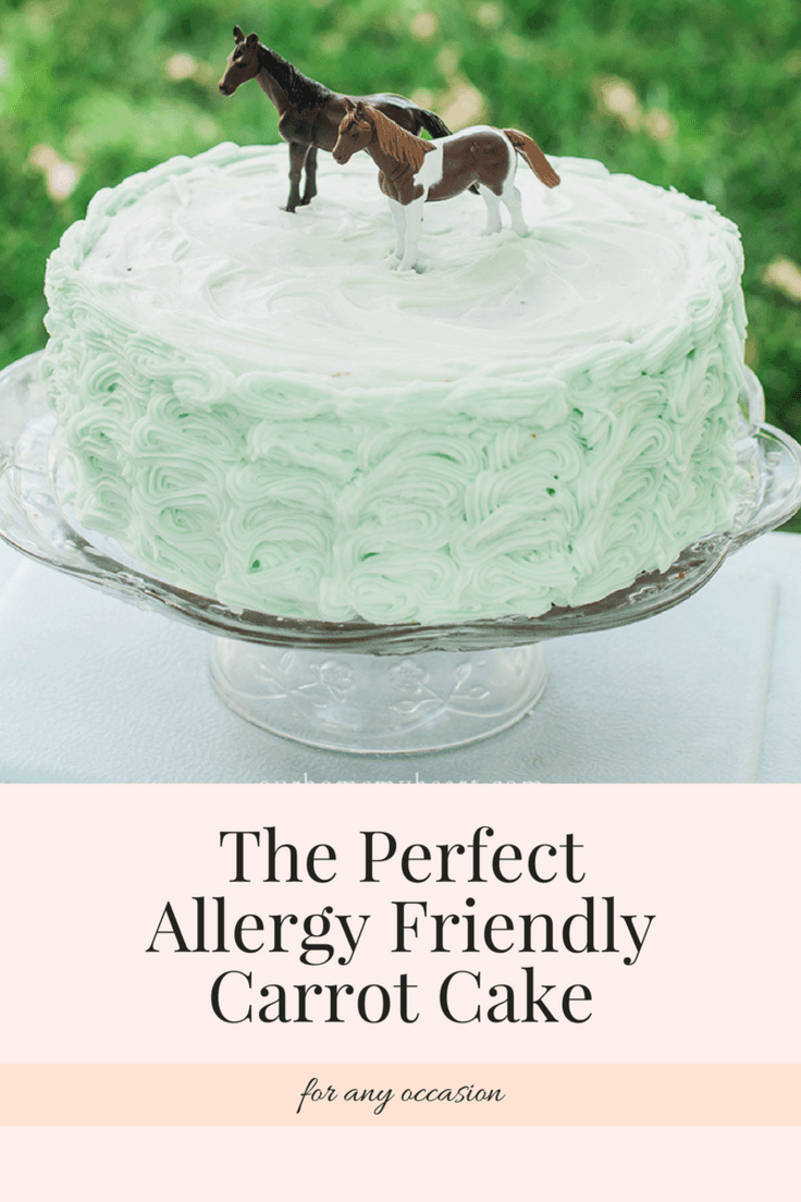 This allergy friendly carrot cake recipe can be enjoyed during kid's parties or tea parties. Whatever the occasion it is sure to be a hit!