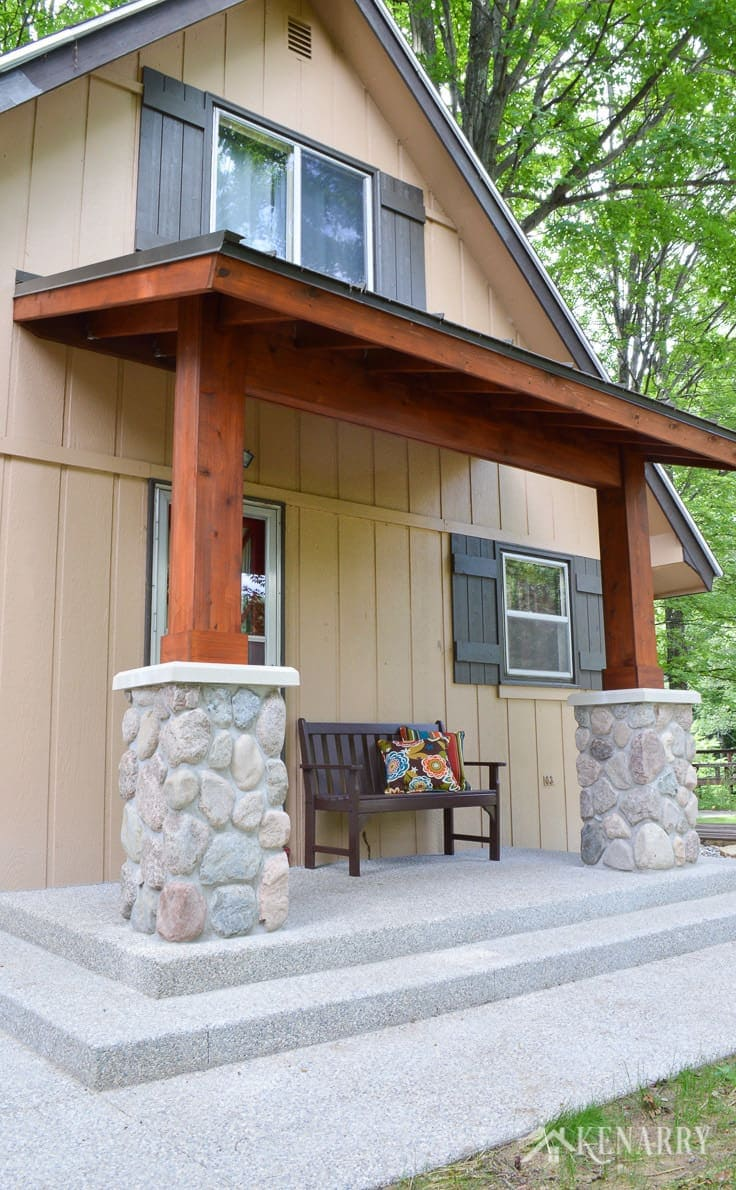 Craftsman Style Front Porch For An A Frame Cottage