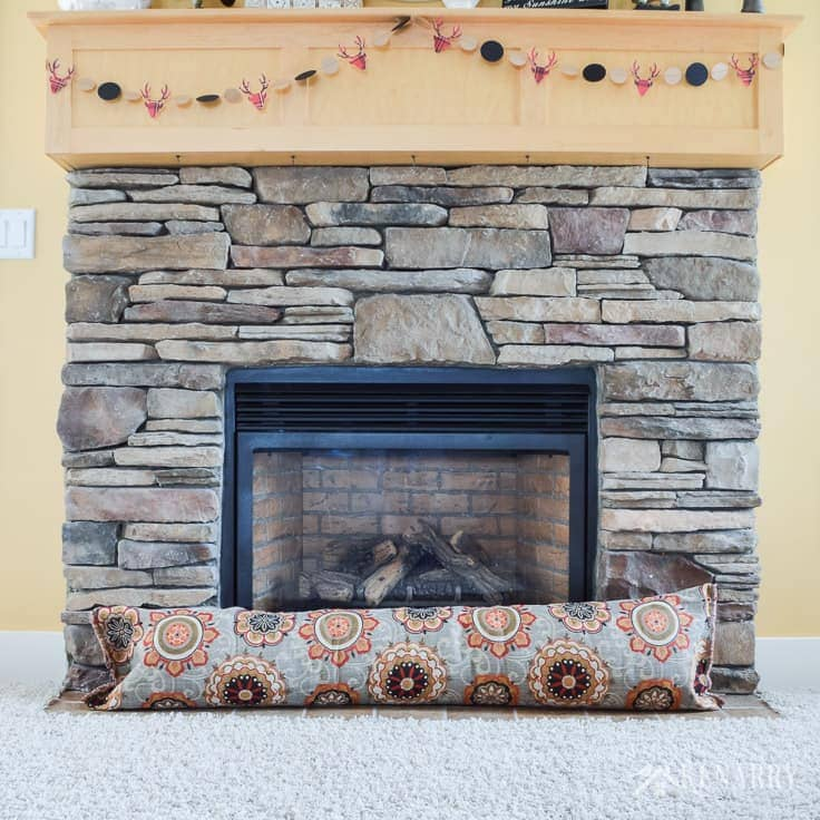 Block out cold drafts in fall and winter. Learn how to make an easy fireplace draft stopper with fabric