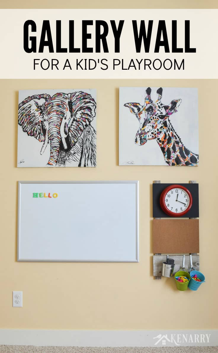 & Playroom Wall Decor: Make a Gallery Wall for Kids