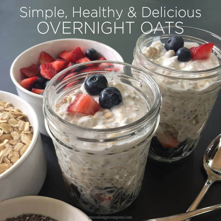 simple, healthy and delicious overnight oats recipe