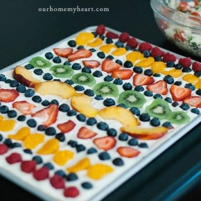 This secret fruit pizza recipe is delicious and flexible too! This dessert that can be tailored to anyone's tastes. Pick one fruit or several.