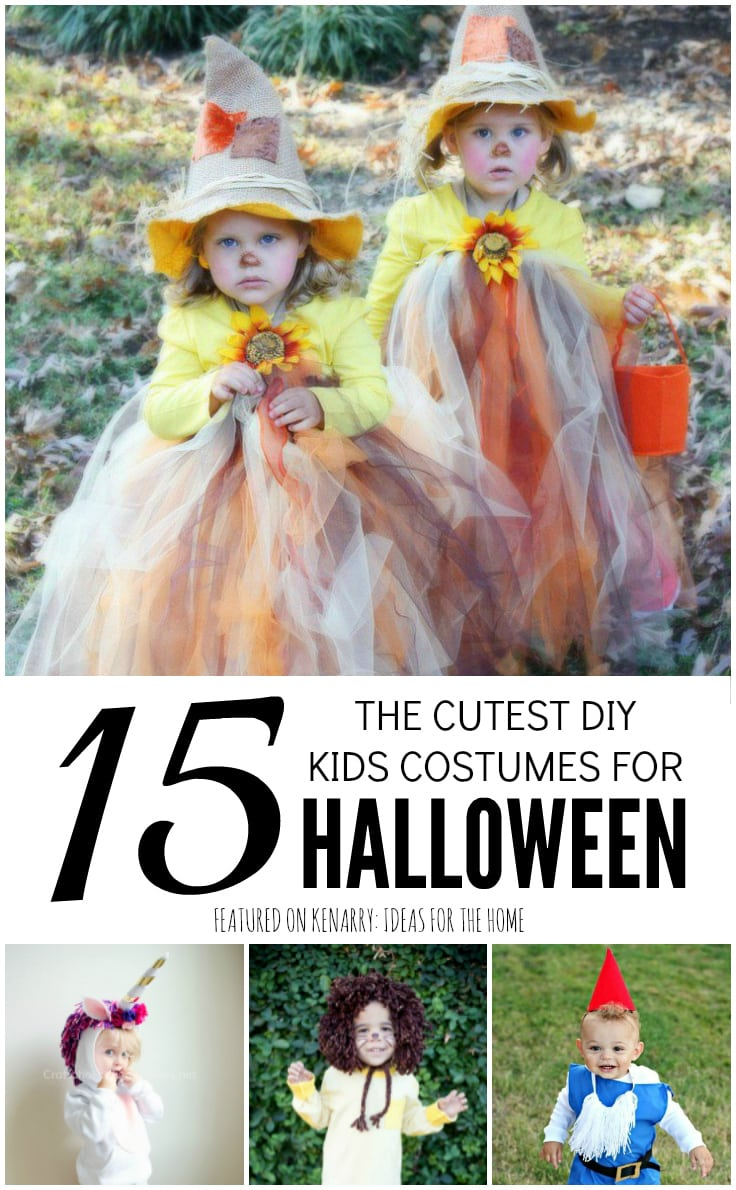 These 15 ideas for DIY kids Halloween costumes are the cutest on the planet! You can easily create an adorable homemade Halloween costume for your child this year.