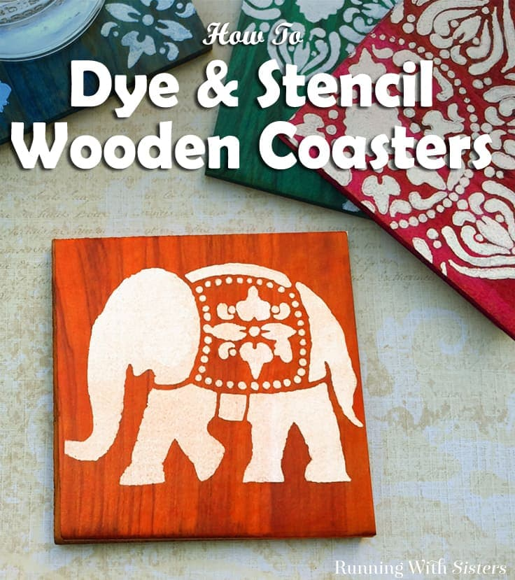 Learn to Dye And Stencil Wooden Coasters. We'll show you every step to make these Boho Chic Coasters with this video tutorial including how to apply Ultra Dye and how to paint using a stencil.