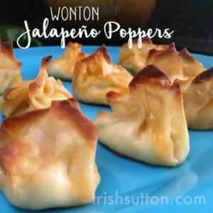 Wonton Jalapeño Popper Recipe, TrishSutton.com