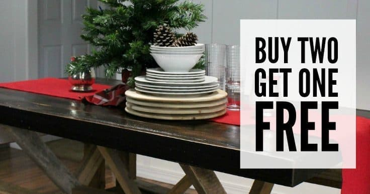 Buy Two Burlap Table Runners, Get One Free