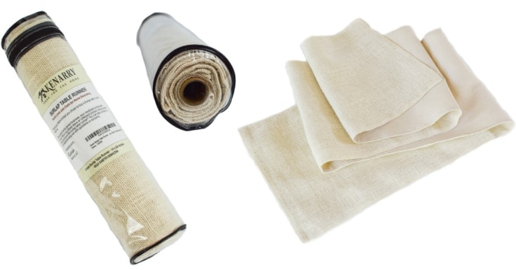Use an off white, ivory or cream colored burlap table runner to decorate a table or mantel for a party, wedding, holiday or every day style. It's fabric lined with hemmed sewn edges that won't fray for high quality durability.