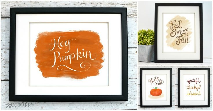 Fall Art Autumn Printables from Kenarry: Ideas for the Home