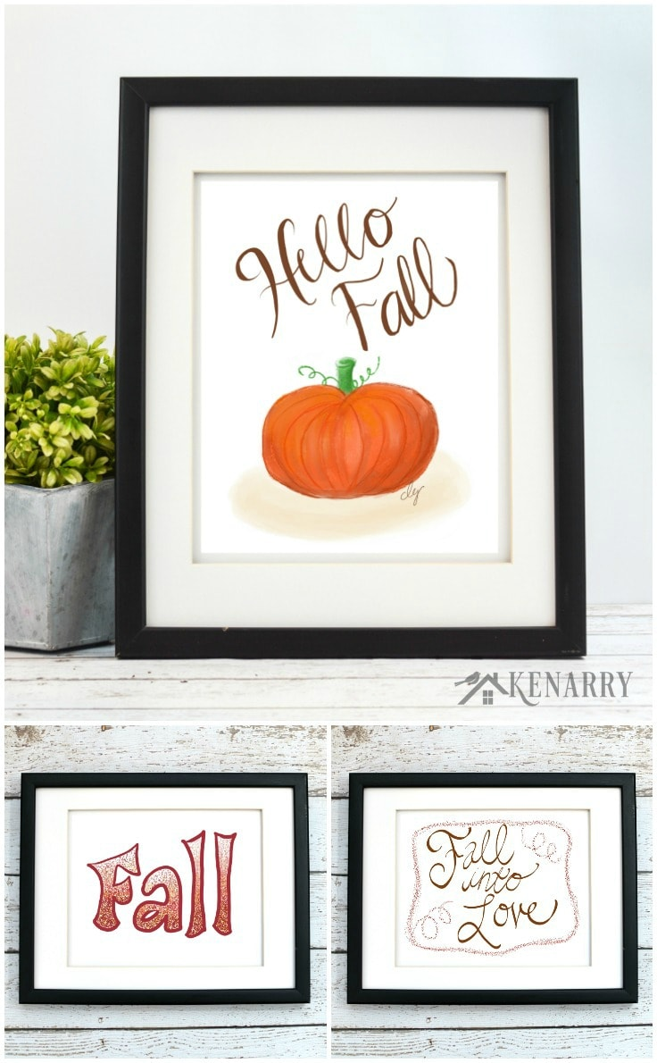 This beautiful fall art collection is a great way to update your home decor for autumn. Each of these digital printables is available on Etsy from Kenarry: Ideas for the Home so you can decorate your home for autumn, Halloween and Thanksgiving on a budget.