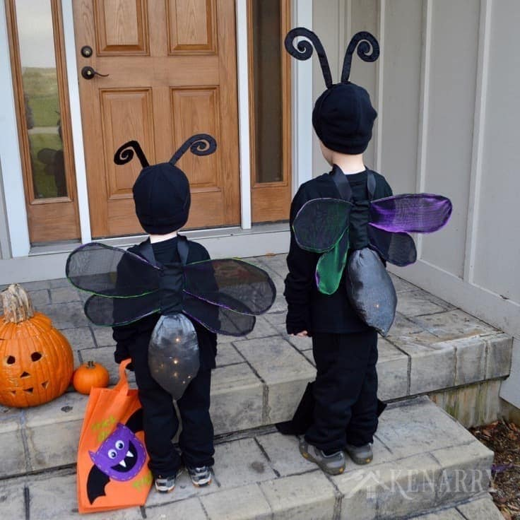 Firefly costume diy lightning bug idea for halloween use this sewing tutorial for diy wings to make an adorable firefly costume for kids solutioingenieria Image collections