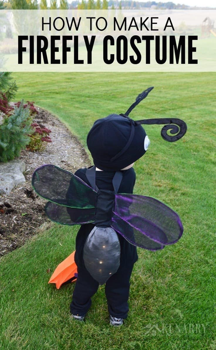 Create an adorable Halloween costume for your child using this sewing tutorial for a DIY firefly costume (or lightning bug). The wings even light up!
