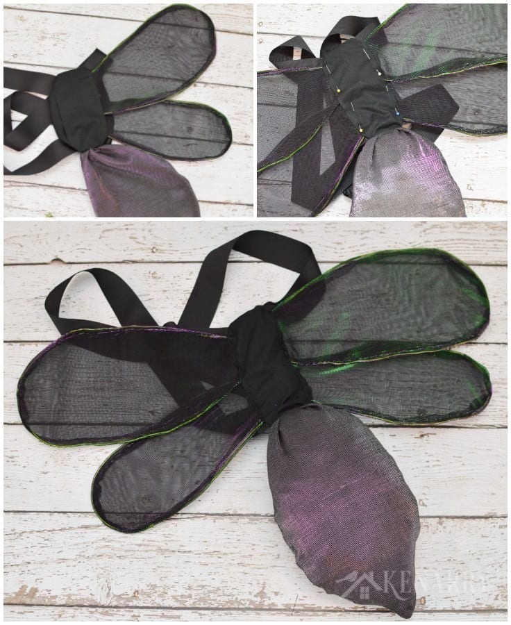 Create DIY wings for a firefly costume a child can wear for dress-up, a theatre play or Halloween. The tail of the lightning bug even lights up!