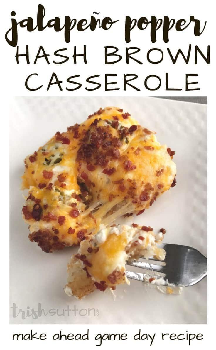 Jalapeño Popper Hash Brown Casserole Recipe, TrishSutton.com