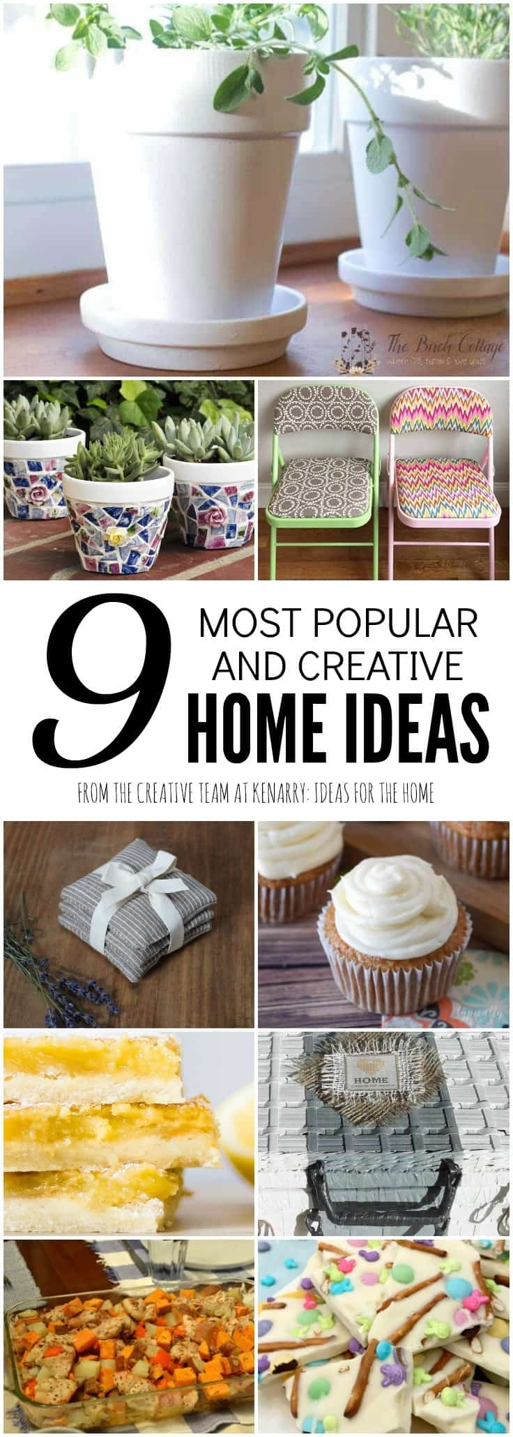 Check out the 9 most popular home ideas from the Kenarry Creative Team including the best recipes, crafts, DIY projects, decor and more.