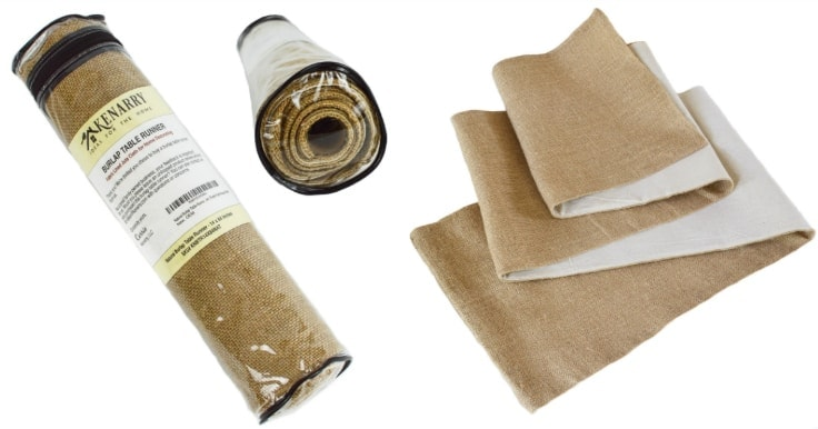 Use a natural burlap table runner to decorate a table or mantel for a party, wedding, Thanksgiving, fall, holiday or every day farmhouse style. It's fabric lined with hemmed sewn edges that won't fray for high quality durability.