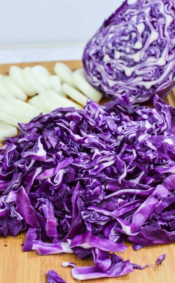 Chopped purple cabbage and onions get sautéed together for a delicious side dish. If you love cabbage, you've got to try this Southwest Sautéed Red Cabbage recipe for dinner.