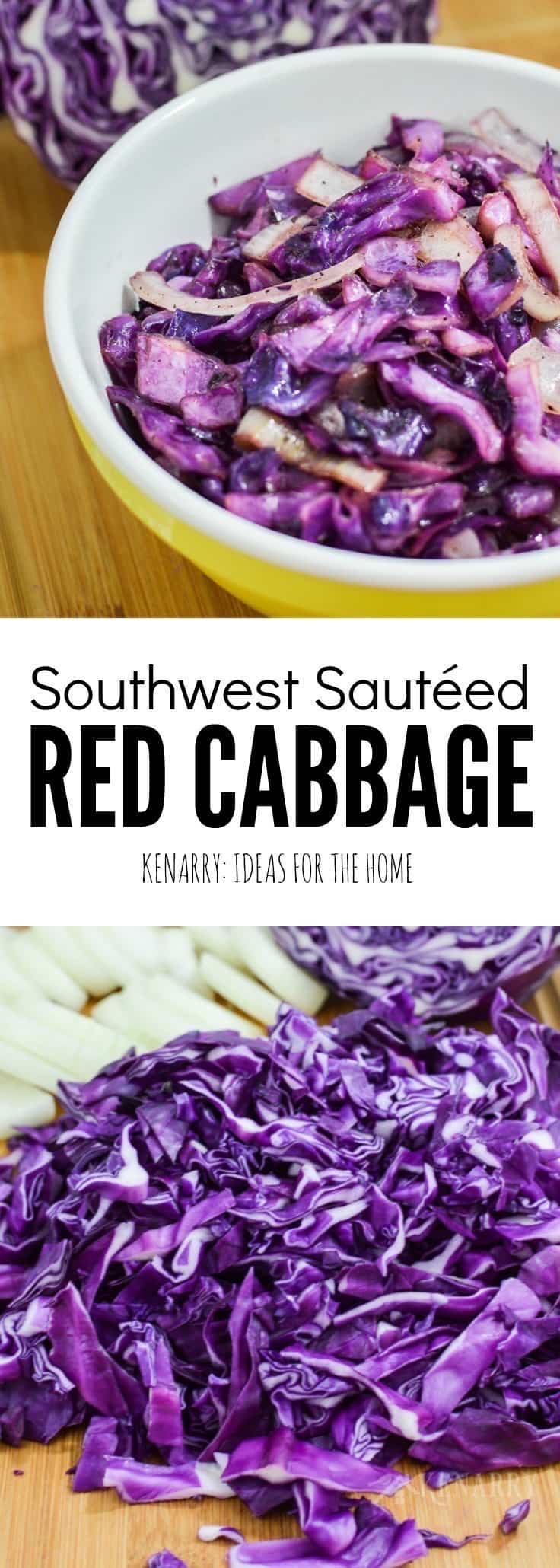 This red cabbage recipe is a delicious side dish that goes great with any dinner. With cumin, onion and southwest style, it's especially great with tacos, burritos and other Mexican meals.