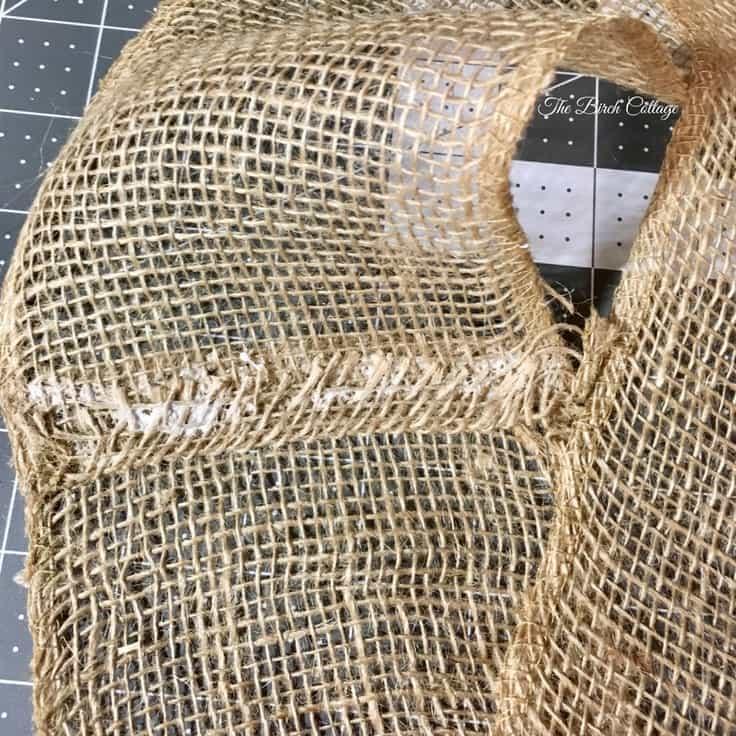 Make a No-Sew Burlap Pillow Wrap from Burlap Ribbon