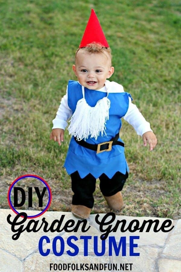 diy boy garden gnome costume food folks and fun halloween costumes the