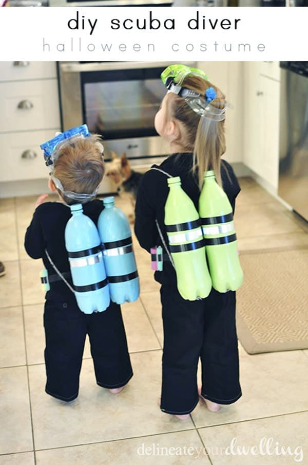 DIY Scuba Diver Costume – Delineate Your Dwelling - Halloween Costumes: The 15 Cutest Ideas for Kids featured on Kenarry.com