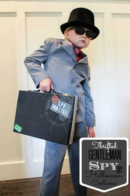 Thrifted Gentleman Spy DIY Halloween Costume – The Happy Housie - Halloween Costumes: The 15 Cutest Ideas for Kids featured on Kenarry.com