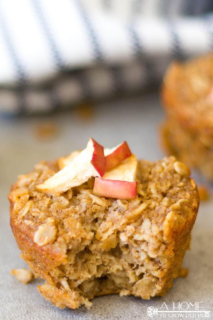 Baked Apple Pie Oatmeal Muffins Recipe Healthy Treat Or