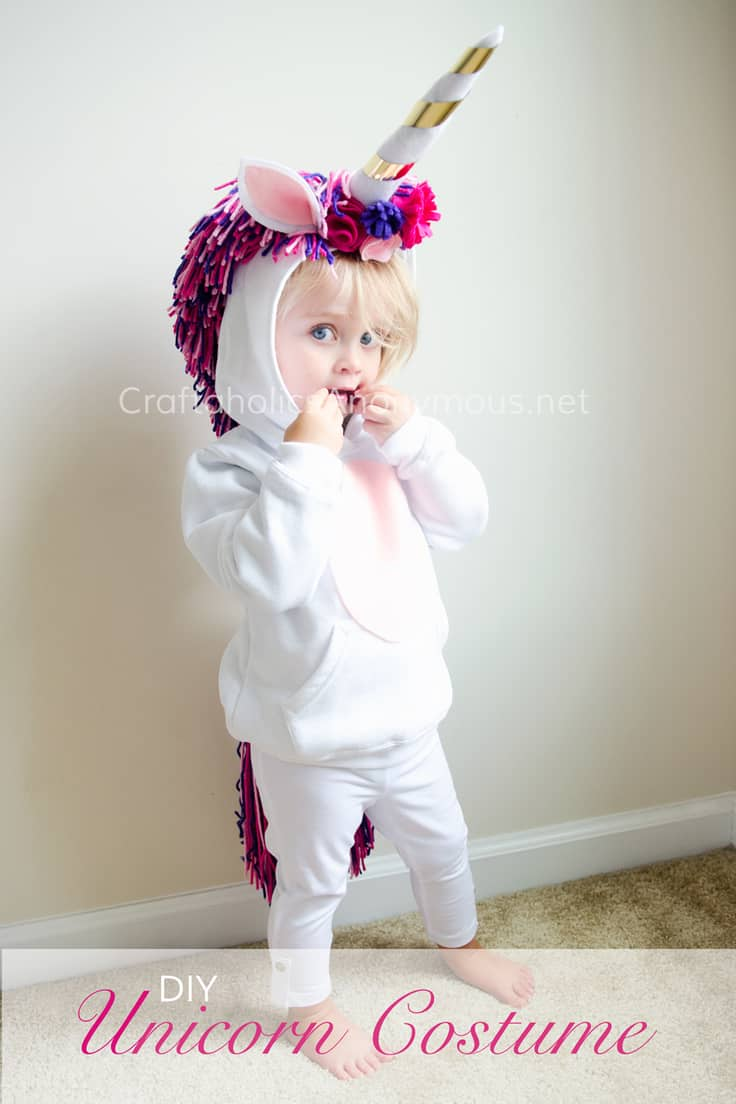 DIY Unicorn Costume Tutorial – Craftaholics Anonymous - Halloween Costumes: The 15 Cutest Ideas for Kids featured on Kenarry.com