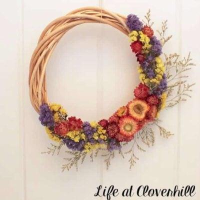Dried Flower Wreath Tutorial