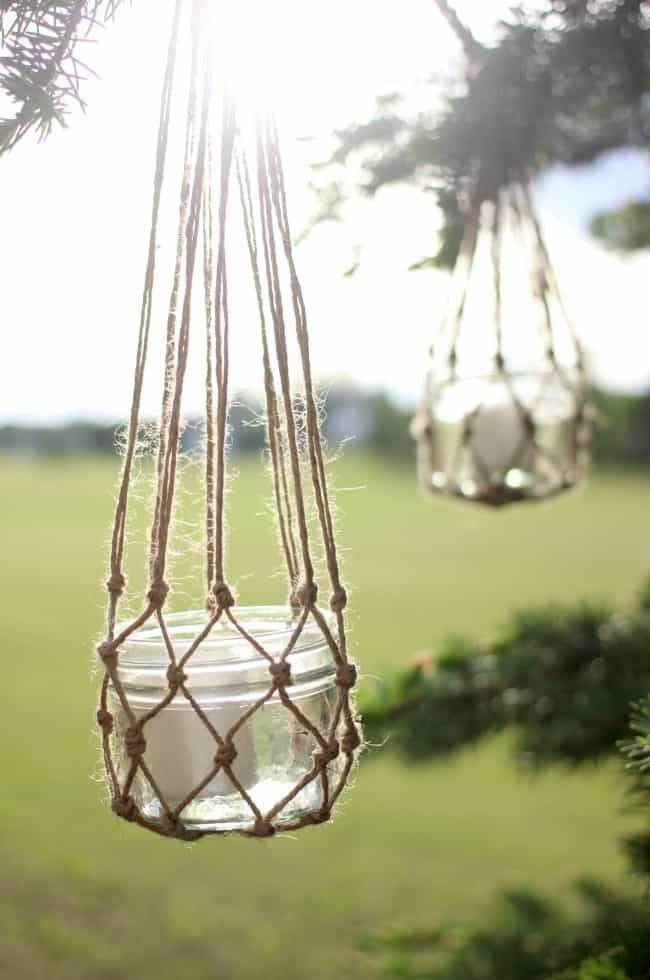 Jute String Lanterns – Love Create Celebrate - Jute Craft Ideas / DIY Projects with Twine featured on Kenarry.com