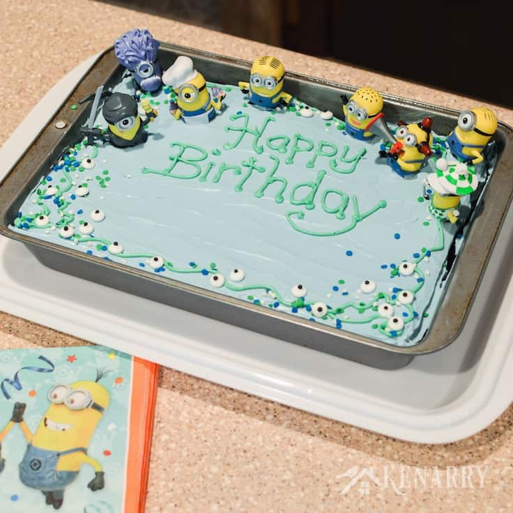 Tremendous Minions Birthday Cake An Easy Despicable Me Party Idea Funny Birthday Cards Online Eattedamsfinfo