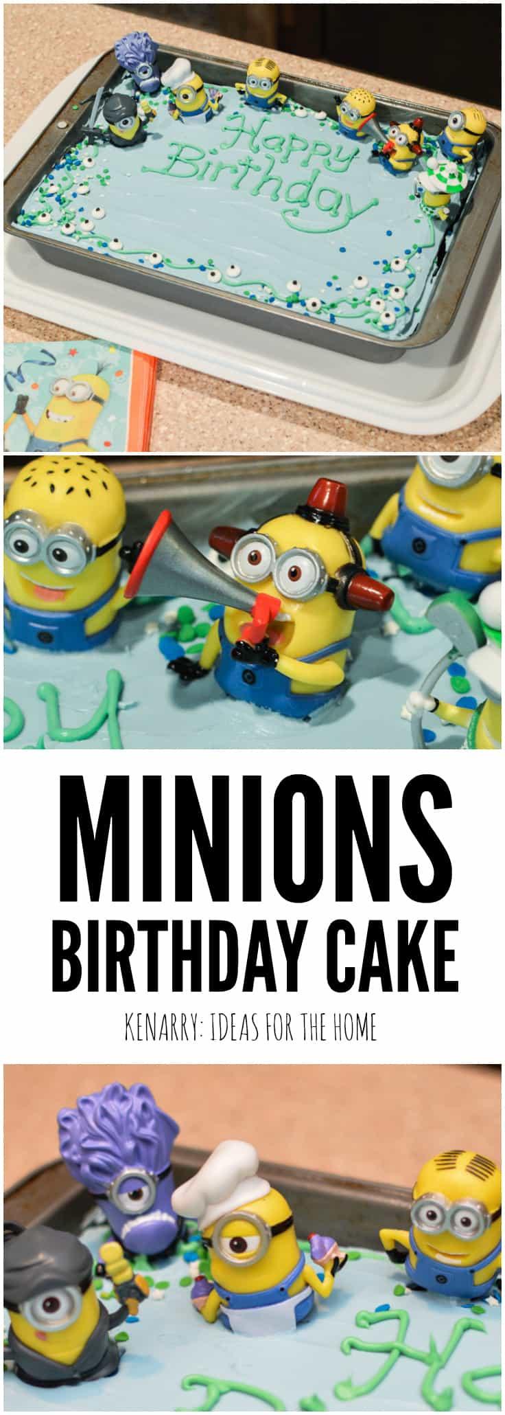 Minions Birthday Cake An Easy Despicable Me Party Idea