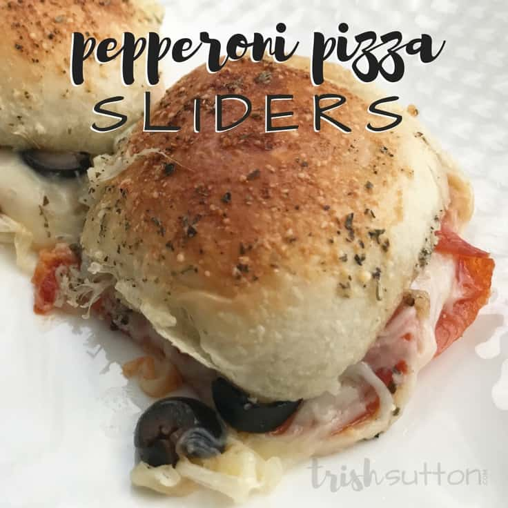 Pepperoni Pizza Sliders by Trish Sutton